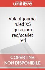 Volant journal ruled XS geranium red/scarlet red articolo per la scrittura