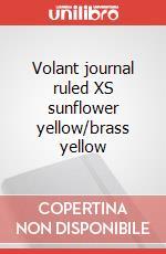 Volant journal ruled XS sunflower yellow/brass yellow articolo per la scrittura