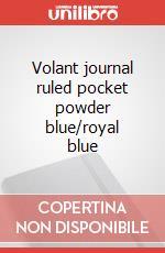 Volant journal ruled pocket powder blue/royal blue articolo per la scrittura