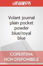 Volant journal plain pocket powder blue/royal blue articolo per la scrittura