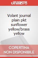 Volant journal plain pkt sunflower yellow/brass yellow articolo per la scrittura