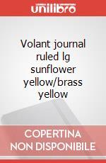 Volant journal ruled lg sunflower yellow/brass yellow articolo per la scrittura