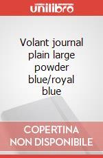 Volant journal plain large powder blue/royal blue articolo per la scrittura