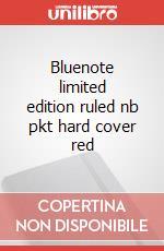 Bluenote limited edition ruled nb pkt hard cover red articolo per la scrittura