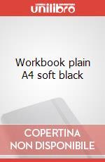Workbook plain A4 soft black articolo per la scrittura