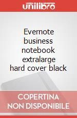 Evernote business notebook extralarge hard cover black articolo per la scrittura