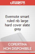 Evernote smart ruled nb large hard cover slate grey articolo per la scrittura