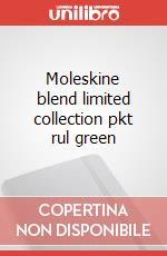 Moleskine blend limited collection pkt rul green articolo per la scrittura