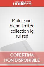Moleskine blend limited collection lg rul red articolo per la scrittura