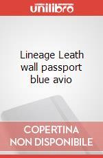Lineage Leath wall passport blue avio articolo per la scrittura