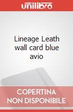 Lineage Leath wall card blue avio articolo per la scrittura