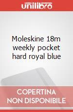 Moleskine 18m weekly pocket hard royal blue articolo per la scrittura