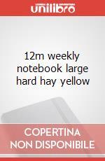 12m weekly notebook large hard hay yellow articolo per la scrittura