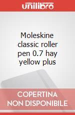 Moleskine classic roller pen 0.7 hay yellow plus articolo per la scrittura