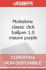 Moleskine classic click ballpen 1.0 mauve purple articolo per la scrittura