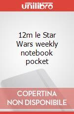 12m le Star Wars weekly notebook pocket articolo per la scrittura