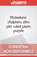 Moleskine chapters slim pkt ruled plum purple articolo per la scrittura