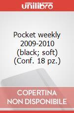 Pocket weekly 2009-2010 (black, soft) (Conf. 18 pz.) articolo per la scrittura di Moleskine