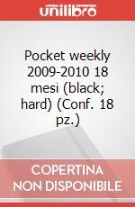 Pocket weekly 2009-2010 18 mesi (black, hard) (Conf. 18 pz.) articolo per la scrittura di Moleskine