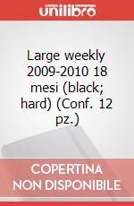 Large weekly 2009-2010 18 mesi (black, hard) (Conf. 12 pz.) articolo per la scrittura di Moleskine