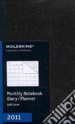 Agenda Moleskine 2011 - MENSILE LARGE Copertina Morbida Nera articolo per la scrittura
