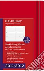 Moleskine Agenda 18 mesi 2011/2012 - Orizzontale Pocket Rossa articolo per la scrittura