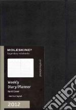 Moleskine 2012 Agenda Settimanale Verticale Professional A4 - Copertina Rigida Nera articolo per la scrittura
