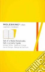 Golden yellow plain volant notebooks P articolo per la scrittura
