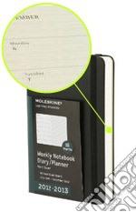 Agenda 18 mesi 2012-2013 - Settimanale Pocket Copertina Soft Nera articolo per la scrittura