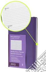 Agenda 2013 Large Viola- Settimanale Orizzontale articolo per la scrittura