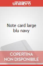 Note cards with envelope. L navy blue articolo per la scrittura