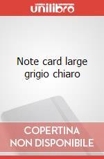 Note cards with envelope. L light grey articolo per la scrittura