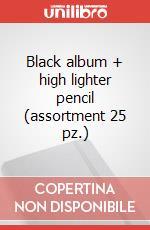 Black album + high lighter pencil (assortment 25 pz.) articolo per la scrittura di Moleskine