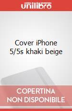Cover iPhone 5/5s khaki beige articolo per la scrittura