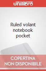 Ruled volant notebook pocket articolo per la scrittura