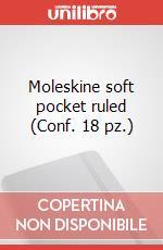 Moleskine soft pocket ruled (Conf. 18 pz.) articolo per la scrittura di Moleskine