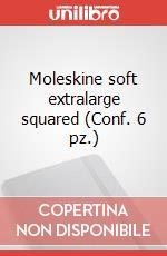 Moleskine soft extralarge squared (Conf. 6 pz.) articolo per la scrittura di Moleskine