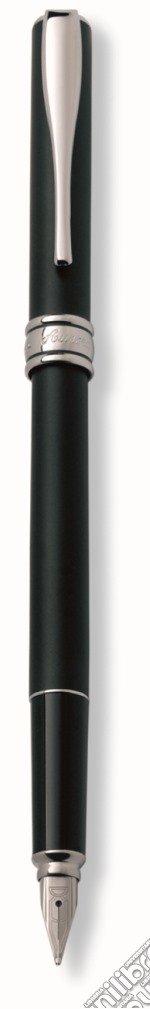 Stilo in resina opaca nera, fin. cromate. articolo per la scrittura di aurora